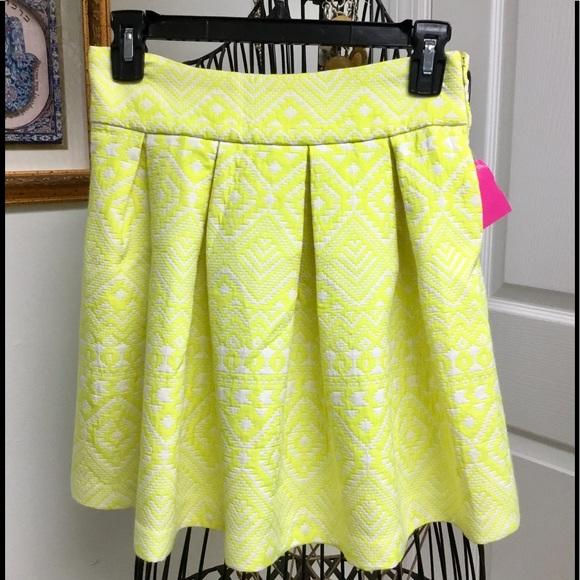 Parker Dresses & Skirts - Parker yellow white mini skirt size S